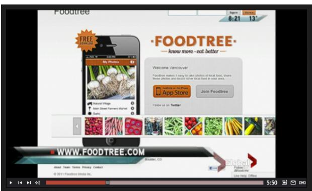 Foodtree on GlobalTV News